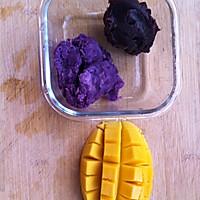 QQ糯糯椰蓉-芒果、紫薯、红豆沙-糯米糍的做法图解6