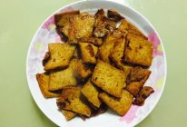 煎豆腐片炒肉的做法