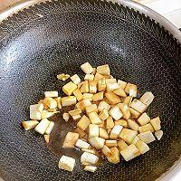 #花10分钟,做一道菜!#茭白牛排粒的做法图解5