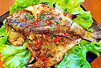 鲜辣烤鲈鱼的做法