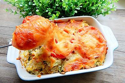 西红柿生菜焗饭
