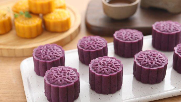 紫薯奶油月饼南瓜豆沙