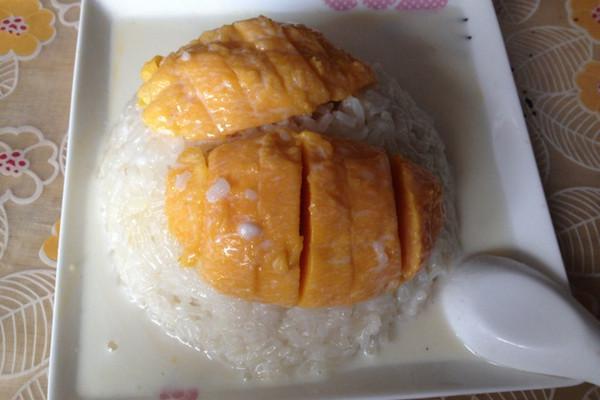 【超级正宗】泰式芒果糯米饭的做法