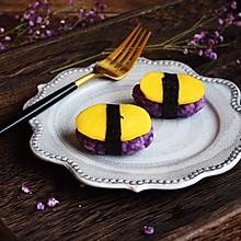 #百变水果花样吃#紫薯芒果奶香饭团