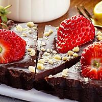 免烤草莓巧克力塔的做法图解6