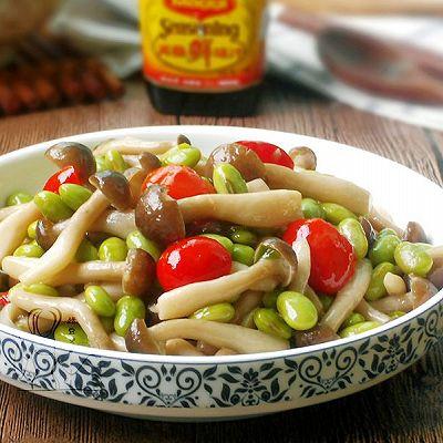 蟹味菇炒毛豆