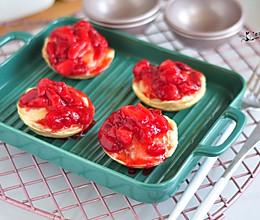 草莓爆浆甜心的做法