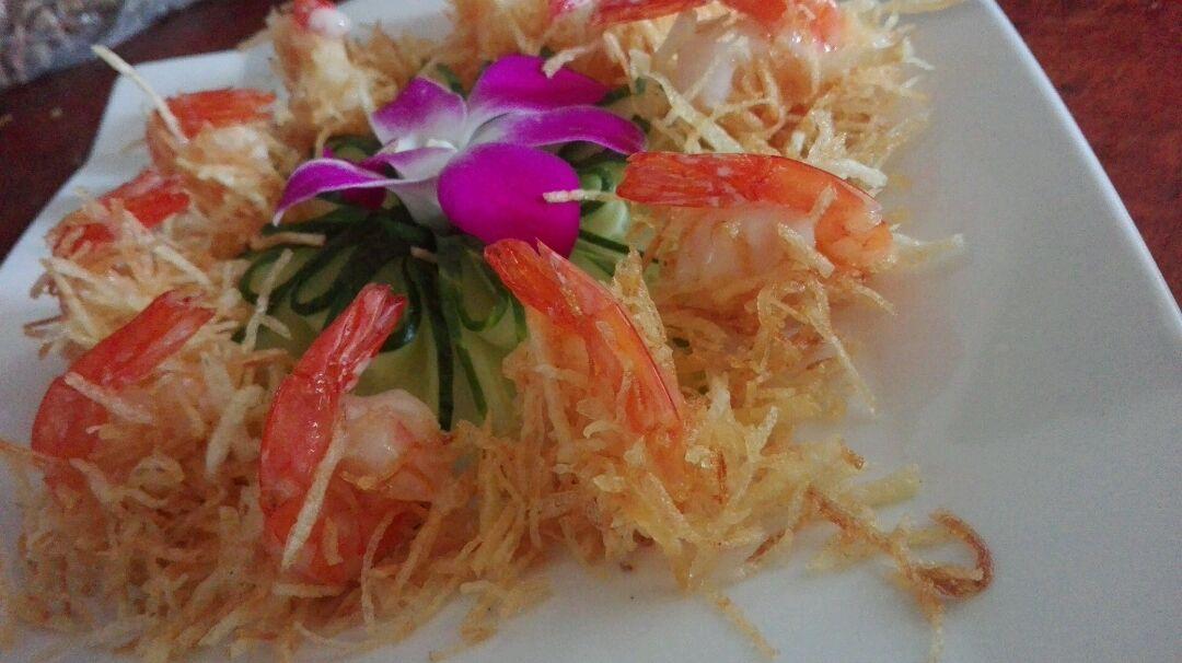 金丝沙拉虾的做法图解7