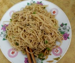 炒香港蝦子面的做法