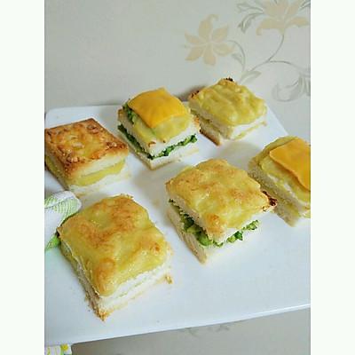 榴莲芝士面包片