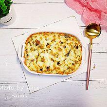 咖喱贡丸芝士焗饭