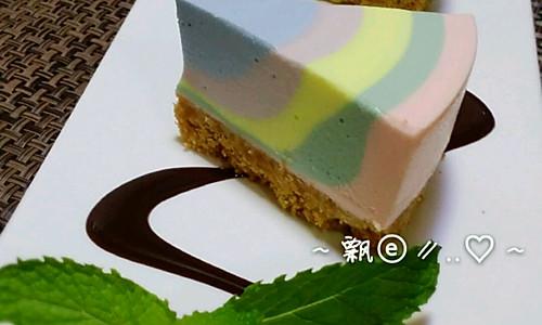 彩虹慕斯蛋糕的做法