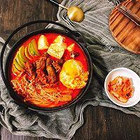 韩式辣白菜菌菇流心蛋肥牛锅 快手简单好做的家常菜汤锅