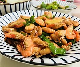 青椒炒河虾的做法
