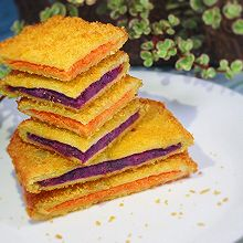 #硬核菜谱制作人#快手早餐——双薯三明治