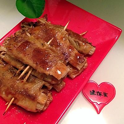 铁板烧—豆皮金针菇