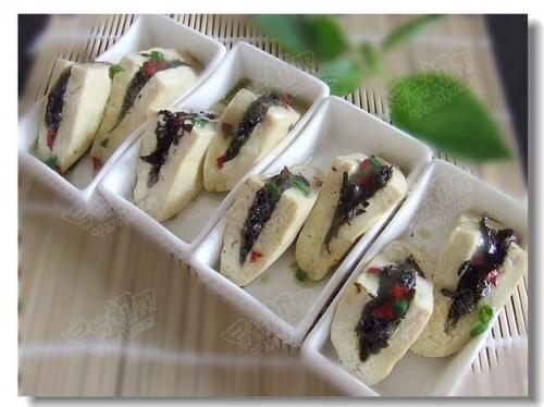 潮汕美食——榄菜蒸豆腐的做法