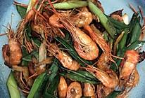爆炒河虾的做法