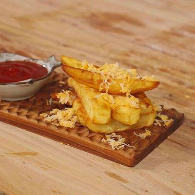 风靡海外的法式手工芝士大薯条,自己做!