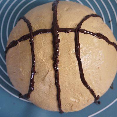 自制篮球蛋糕