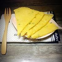 葱花鸡蛋饼#急速早餐#的做法图解7