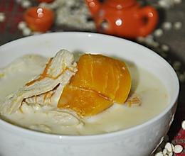 豆浆南瓜鸡片的做法