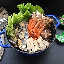 韩式泡菜海鲜菌菇火锅#家乐浓汤宝火锅英雄争霸赛#