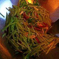 莴苣炒螺丝肉的做法图解2