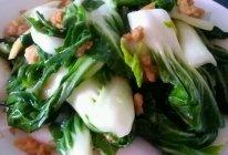 猪油渣炒小白菜的做法