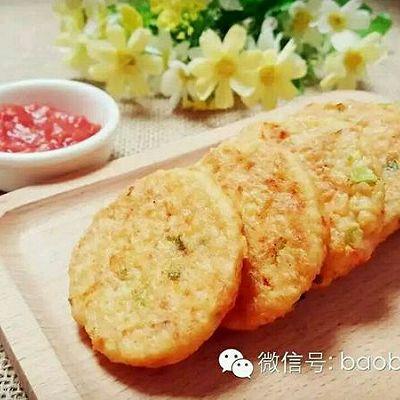 虾仁豆腐饼