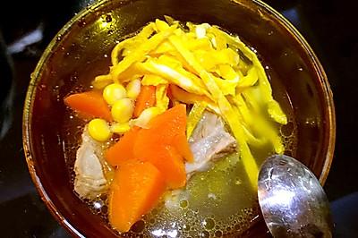 蛋丝排骨汤【12M】
