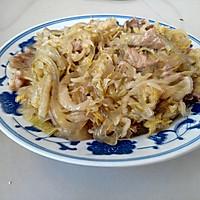 酸菜猪肉炖粉条的做法图解4
