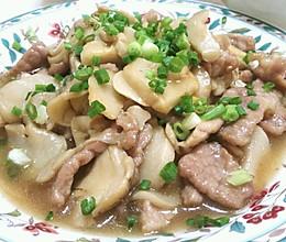 鲍汁蚝油杏鲍菇炒肉片的做法