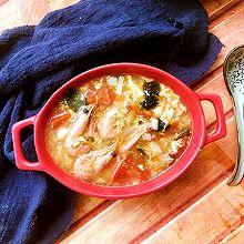 鸡蛋海鲜汤