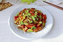 芹菜胡豆葱蚝甜的做法