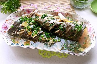 葱油海鲈鱼#春天不减肥、夏天肉堆堆#