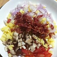 法式吐司蔬菜沙拉的做法图解1