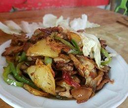 莲藕土豆肉片的做法