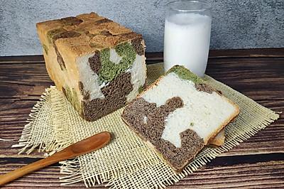 迷彩吐司面包