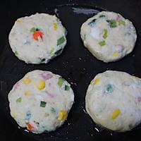 外酥里嫩的鲜蔬土豆饼,简单快手的营养早餐,可做小吃可做主食的做法图解5