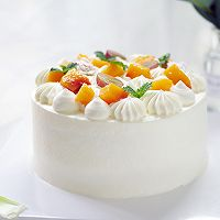小清新 | 新鲜黄桃水果戚风蛋糕的做法图解16