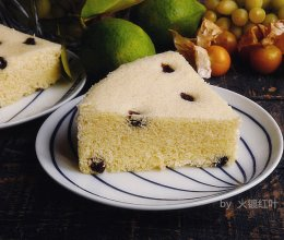 葡萄干蒸蛋糕的做法