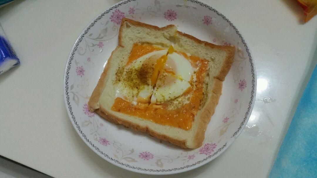 免烤箱 芝士鸡蛋吐司的做法图解3