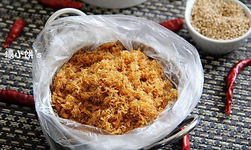 用料实在无添加【五香辣松】家庭版自制肉松的做法