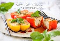 甜罗勒鸡胸肉酿彩椒的做法