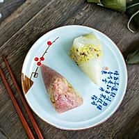 #甜粽VS咸粽,你是哪一党?#紫色三角肉粽的做法图解8