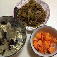 减肥降脂晚餐-双耳冬瓜汤and辣炒苦瓜的做法图解9