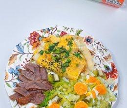 """#2021创意料理组——创意""""食""""光#鸡蛋奇异果沙拉的做法"""