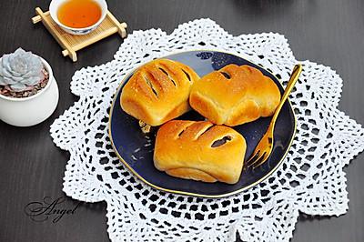 蔓越莓豆沙全麦小面包
