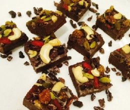 生机椰味巧克力排块的做法